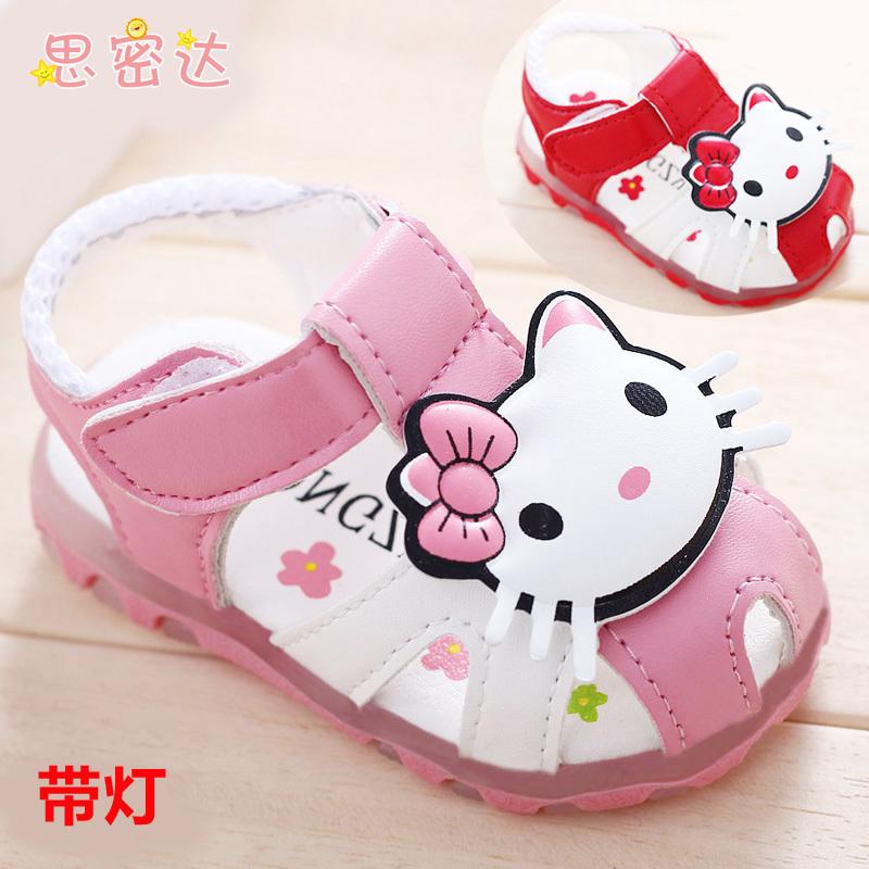 Летние сандалии женский ребенка принцесса обувь мягкое дно малыша детская обувь 0-1-2-3 лет. S005