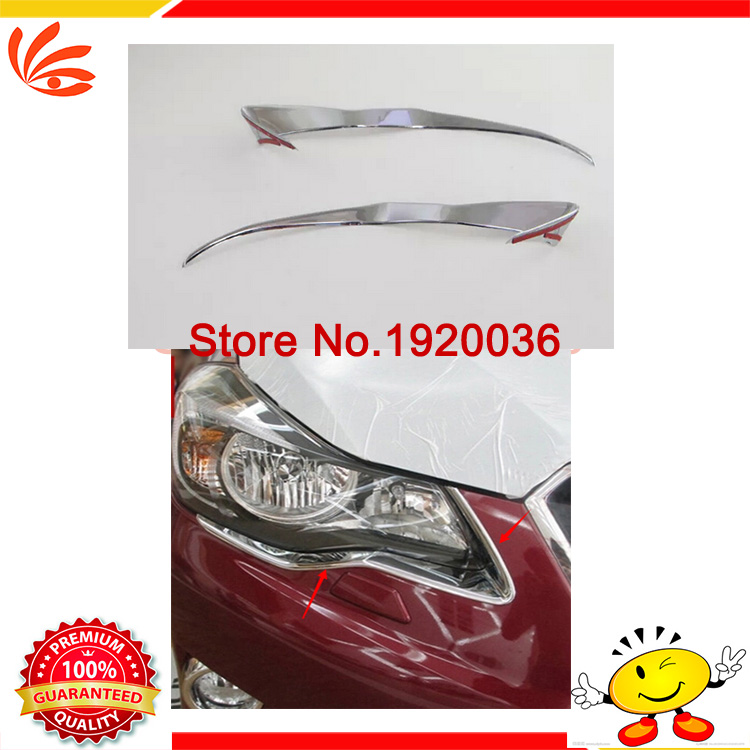 Car styling ABS CHROME FRONT REAR HEADLIGHT TAIL LIGHT LAMP COVER TRIM MOLDING For Subar u XV(China (Mainland))