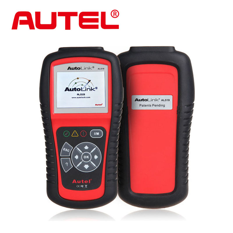 Autel AutoLink AL519 OBDII/EOBD Auto Code Scanner with 10 modes diagnosis TFT color display Work on ALL 1996 and newer vehicles(China (Mainland))