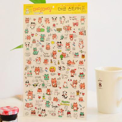 Гаджет  [GTT] 4 sheets / lot ,Cute BUSHI ,  Korean Style Cute kawaii planner stickers For Notebook Paper , Mobile Phone Deoration None Офисные и Школьные принадлежности