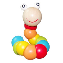 2015 New Baby Toys Newborn Educational Classic Toys Wooden Animal Toy Ever-changing Caterpillar(China (Mainland))
