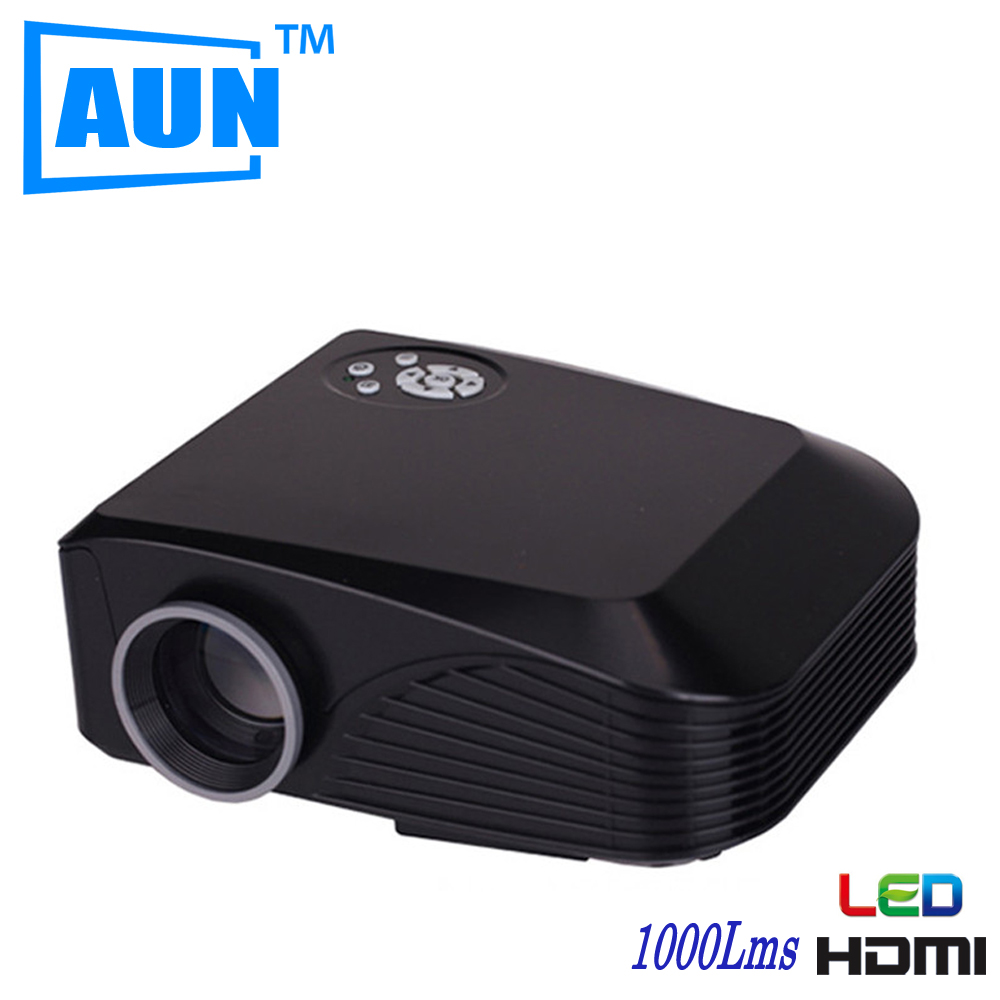 AUN LED Projector Factory outlets 800*480 1000 Lumens With 4inch LCD TFT Display System 3D Projector For Home Cinema X7BG5(China (Mainland))