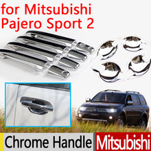 Buy Mitsubishi Pajero Sport 2 2008-2015 Chrome Door Handle Cover Accessories 2011 2012 2013 2014 2015 Car Sticker Car Styling for $24.61 in AliExpress store