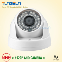 Buy New Home Super 3MP HD AHD 1920P Camera Security CCTV White Mini Dome 36LED infrared Night Vision Surveillance Camera System for $30.88 in AliExpress store