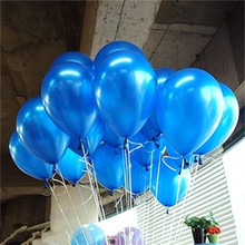 10pcs/lot 10inch Blue Latex Balloon Air Balls Inflatable Wedding Party Decoration Birthday Kid Party Float Balloons Kids Toys