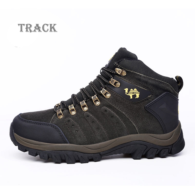 Top quality outdoor tactical waterproof men hiking shoes boot breathable outdoors anti-skid botas trekking boots mens shoe QF557