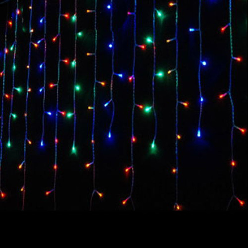 4M LED String Curtain Christmas Wedding Party Decoration Light Chandelier 100 LED Ice Bar Garland(China (Mainland))