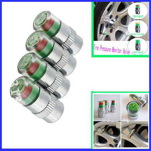 2015 Universal Visiable 4PCS/SET 36 Psi 2.4 Bar Air Warning Alert Tire Valve Pressure Sensor Monitor Light Cap Indicator#ZCY135(China (Mainland))