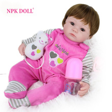16 Inch Silicone Reborn Baby Doll kids Playmate Gift For Girls Baby Alive Soft Toys For Bouquets Doll Reborn(China (Mainland))