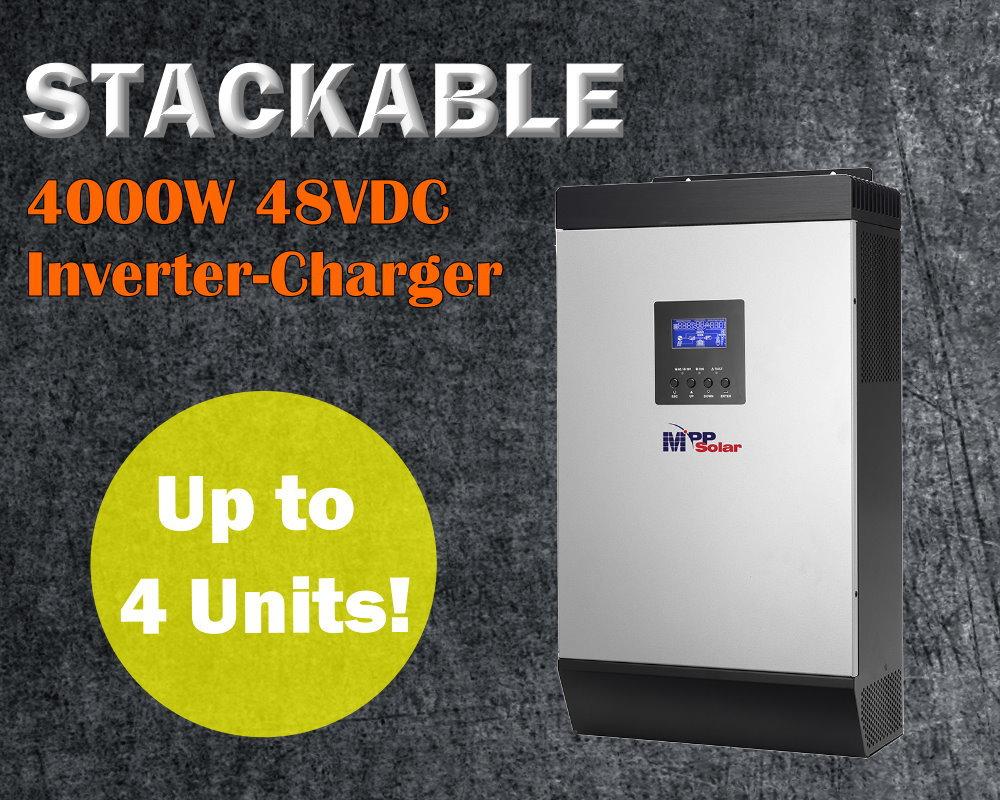 48v 4000w pure sine wave inverter with 60A MPPT solar charger PIP4048MS solar power inverter charger(Taiwan)