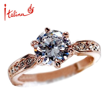 Italina Wedding Rings for women Anel CZ Diamond Rings Jewelry 925 sterling silver ring Engagement Aneis Bague women anillos