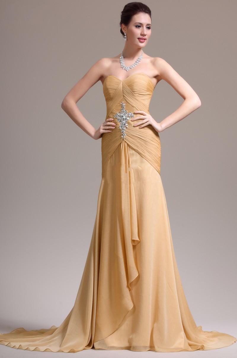 Online Get Cheap Plus Size Gold Evening Gown -Aliexpress.com ...