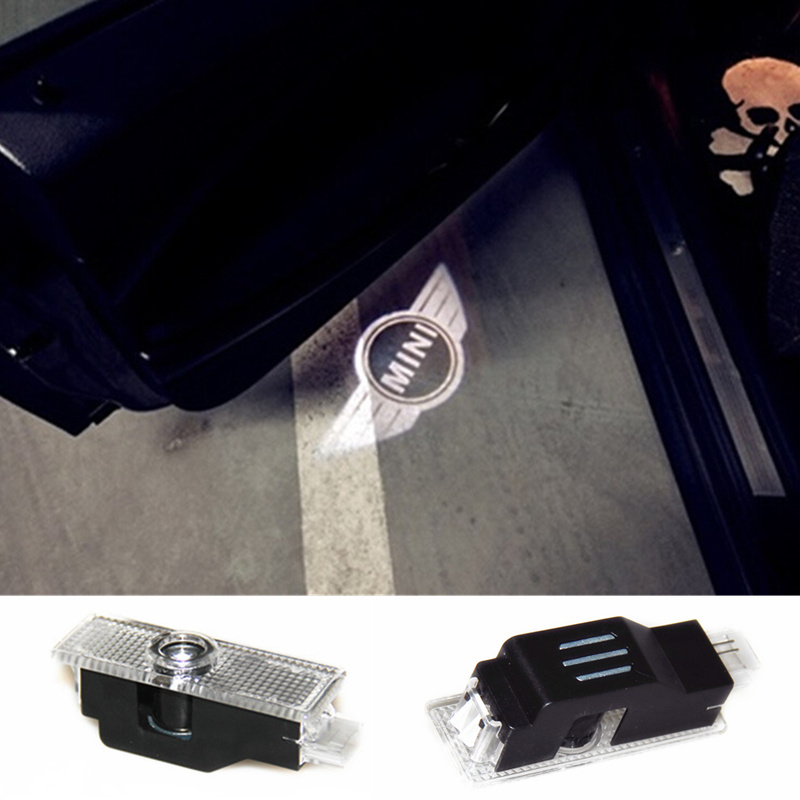 No Drilling LED Ghost Shadow Projector Laser Courtesy Logo Light For Mini clubman R50 mini cooper R53 R56 R55 R57 R58 R59 R60(China (Mainland))