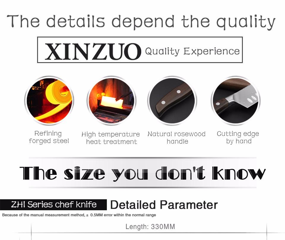 Buy XINZUO ZHI series 3 pcs kitchen knife set super sharp cleaver utility knife  Germany 1.4116 steel chef knife  free shipping cheap