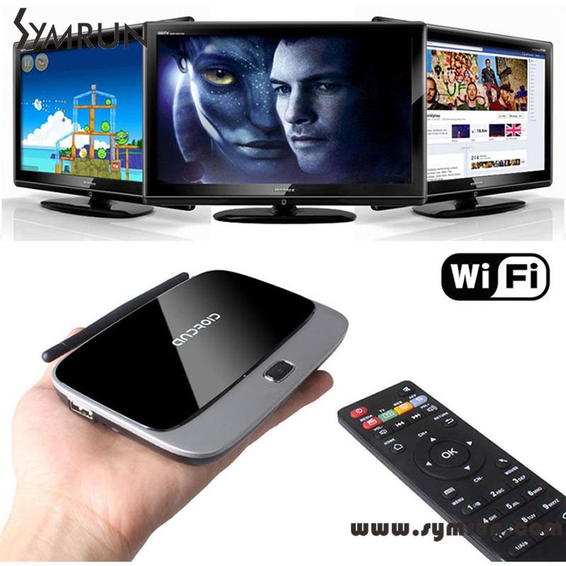 Symrun 2015 Bluetooth 1080P Cs918 Quad Core Kodi Wifi Media Player Q7 Tv Box Android 4.4 Q7 Tv Box(China (Mainland))