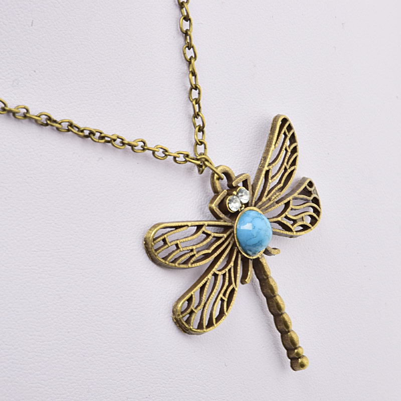 New Vintage Jewelry Accessories Fashion European And American Style Retro Dragonfly Necklace