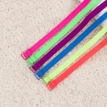 1CM Fashion Candy Color Bra Straps Fluorescent Shoulder Straps Summer Girl Cute Underwear Straps 2pairs/lot Wholesale 633003