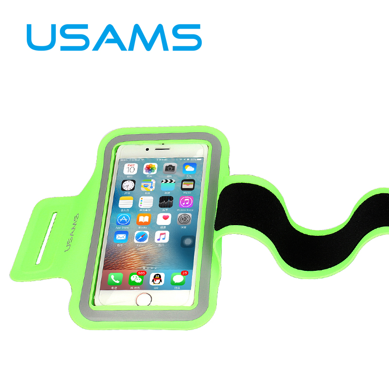 "USAMS 5.5"" Universal Reflect Waterproof Running Sport Armband Case For iPhone 6 6S Plus Galaxy S7 S7 Edge S6 S6 Edge Note(China (Mainland))"