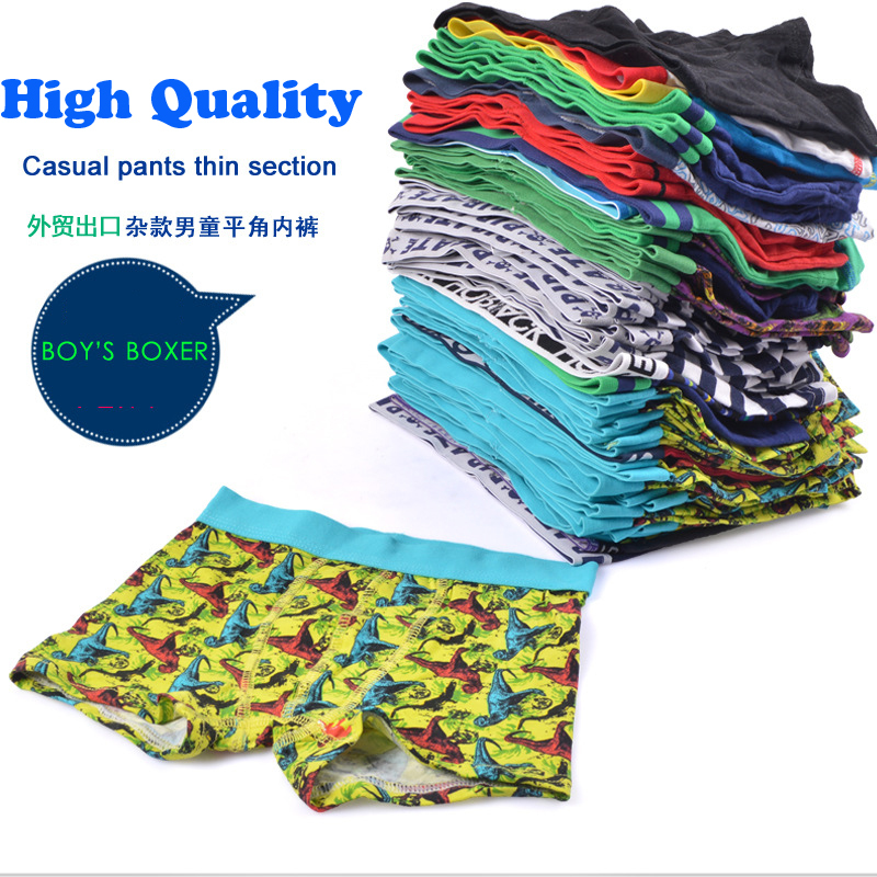 2-16T 2015 Free shipping Brand Kids Panties wholesale Kids Underwear Boys Children Underwear Boys 100% Cotton Boys Boxers(China (Mainland))