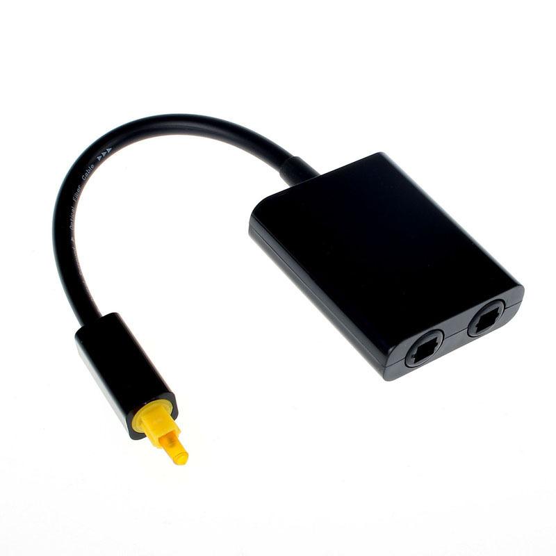Onfine Leo 1PC Digital Toslink Optical Fiber Audio 1 to 2 Female Splitter Adapter Free Shipping&Wholesale(China (Mainland))
