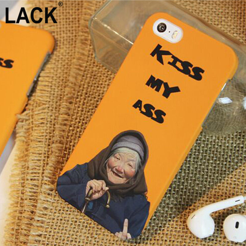 LACK High Quality For iphone 6 6S/6 6s Plus /5 5S kiss my Ass Phone case orange Full Protected Cover For Apple iPhone6 coque(China (Mainland))