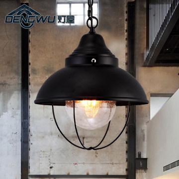 loft retro nostalgia aisle stairs corridor lighting outdoor restaurant bar iron industry pendant lights<br><br>Aliexpress