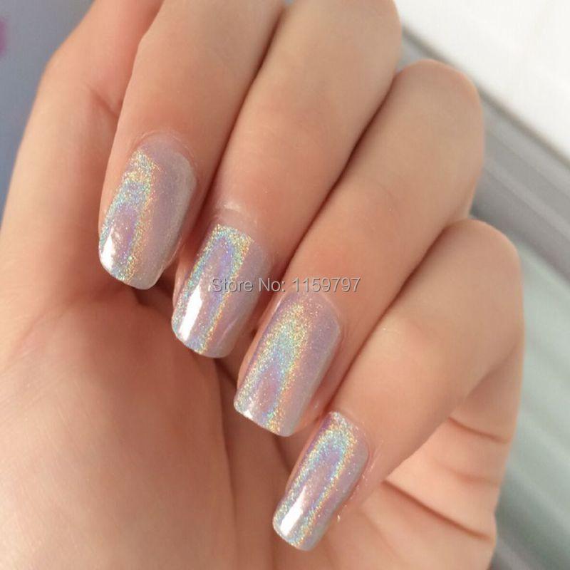 1/128(0.2mm) Shiny Laser Nail Glitter Powder Laser Holographic Nail Glitter Dust Rainbow Pigment Manicure Pigments Nail Art Tips(China (Mainland))
