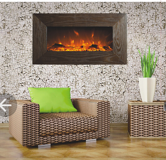 Realistic Electric Fireplace Decorative Electric Fireplace Wall Mounted Electric Fireplace In