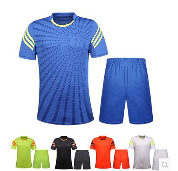 custom made men's plain soccer jersey ,blank soccer training suit can custom any logo .(China (Mainland))