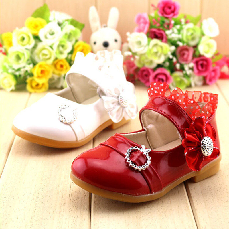 Genuine Leather Size 21-25 Red Pink White Black Princess Shoes LS-3216<br><br>Aliexpress