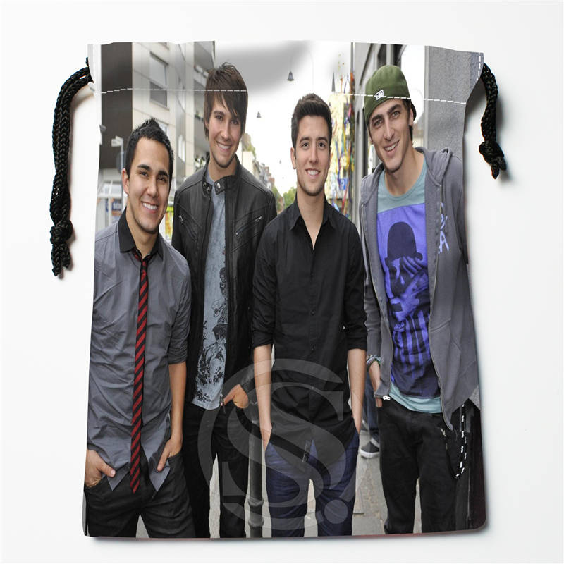 t#!k98 New Big Time Rush-in Cologne Germany Custom Printed receive Bag Compression Type drawstring bags size 18X22cm 7&12ft-k98(China (Mainland))