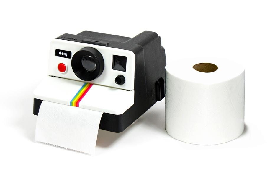 Free Shipping 1Piece Retro Polaroid Camera Shaped Toilet Roll Box / Camera Toilet Tissue Paper Holder(China (Mainland))
