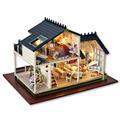 Handmade Doll House Furniture Diy Doll Houses Chair Miniature Dollhouse Wooden Toys For Children Grownups Birthday