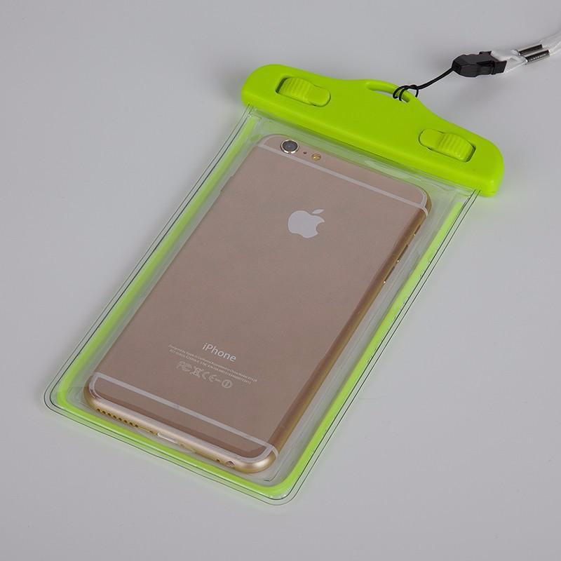 Luminous PVC Waterproof Case Underwater Pouch Bags Cover For iphone7 iphone 7plus iphone 6plus SamsungS7 S6 S5 Fundas For Xiaomi