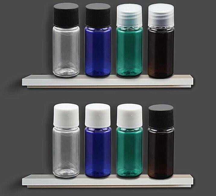 10ml, Travel Size Transparent Screw Cap Bottles Plastic Toner Small Refillable Container Mini Make-up Shampoo Bottles(China (Mainland))