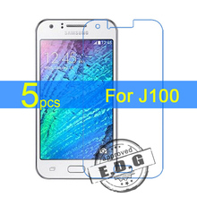 5pcs Ultra Clear LCD Screen Protector Film Cover For Samsung Galaxy J1 J100 J100H J100F Protective Film  +  cloth