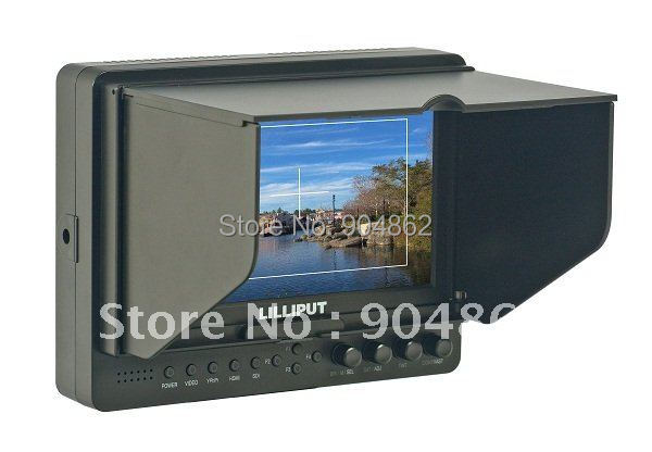 LILLIPUT 665, 7 inch on camera monitor, HDMI field monitor for DSLR and video cameras