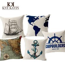 European Navigation Maps Cushion Home Car Throw Pillows New Arrivel Brand Cushions Funda Cojines Decorative Throw Pillow HH503