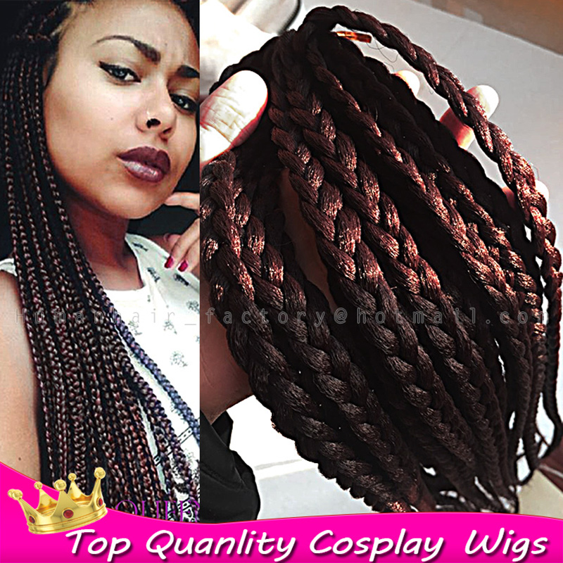 18 6pcs/lot Hot sale Synthetic crochet braids hair Fashion Xpression Braid 99J Kanekalon Braiding Hair Extension African Braids<br><br>Aliexpress