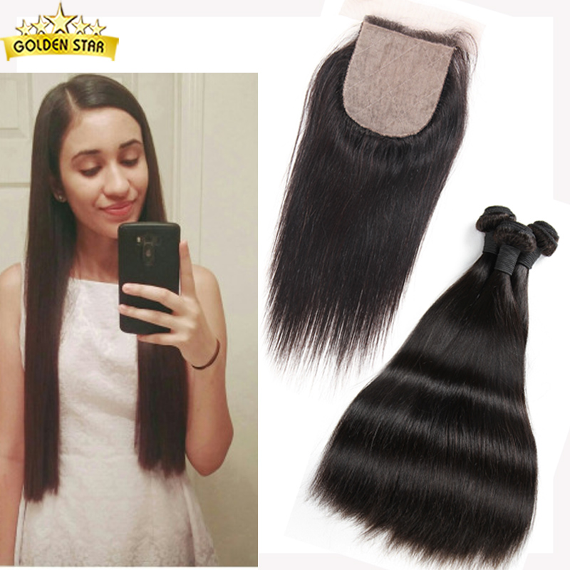 Peruvian Virgin Hair Straight With Closure 5 Pcs Silk Base Closure With Bundles Straight Virgin Hair Bundles And Closure Deals<br><br>Aliexpress