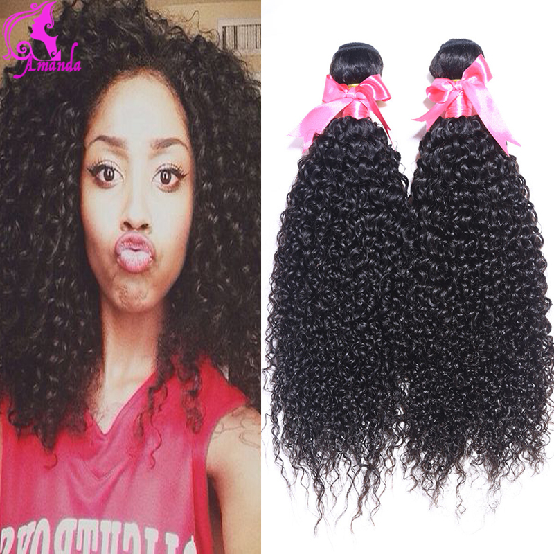 Brazilian Virgin Hair Kinky Curly 4 Bundles Kinky Curly Virgin Hair Afro Kinky Curly Hair Curly Weave Human Hair Ali Moda Black