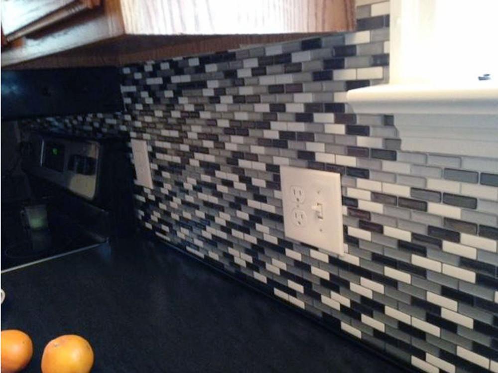 Metrotegels Keuken Kopen : Peel and Stick Wall Tile Backsplash