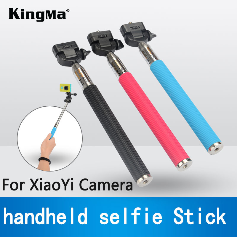 KingMa New Accessories For XiaoYi Handheld Selfie Stick Extendable Handheld Flexible Monopod Tripod Mount Free Shipping(China (Mainland))