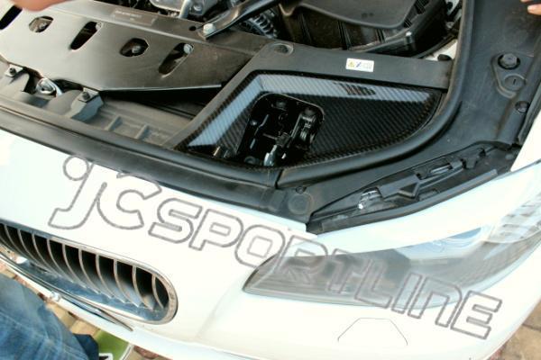 F10 Carbon Fiber Interior Trim Full Replacement Engine Hood Lock Cover For Bmw F10 528i