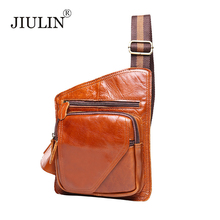 JIULIN 2017 fashion leather men's leather headband first layer of mad cow leather men's bag D0115(China (Mainland))