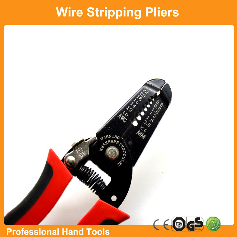 Home Accessories Wire Stripper Multi-Function Cable Stripping Pliers Copper Cutting Tools 22 - 10AWG (0.6mm -2.6mm)(China (Mainland))
