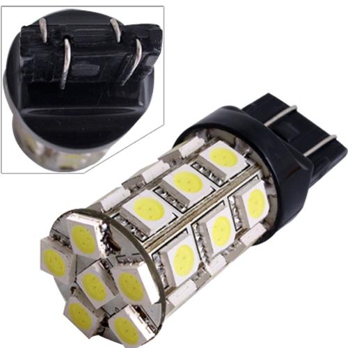 2pcs Car 7443 7440 T20 Tail Brake Bulb Lamp 5050SMD White 27 LED Light 12V 2.5W 250LM()