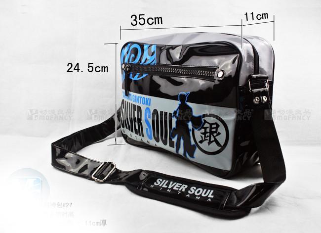 New Fashion Gintama Sakata Gintoki PU Durable Waterproof Shoulder Bag Leisure Messenger Crossbody Bag Satchel