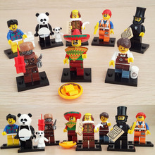 8pcs/set LELE 78039 The Movie Custom Panda Lincoln Action Figure Building Block Bricks Toy Compatible With minifigure(China (Mainland))
