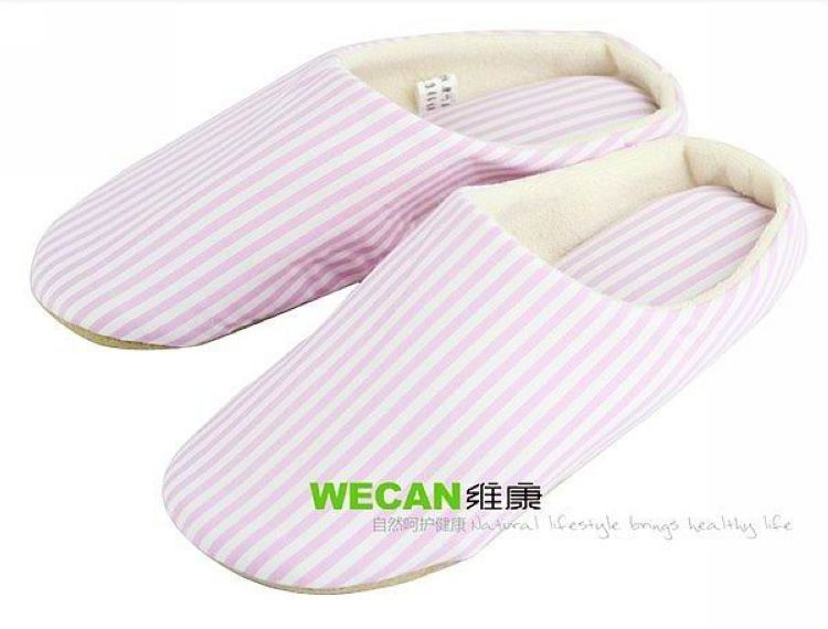 Autumn and winter supplies bamboo slippers at home slippers flannelet slippers stripe antiperspirant hydroscopic(China (Mainland))